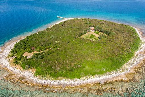 Otok Galija s objektom