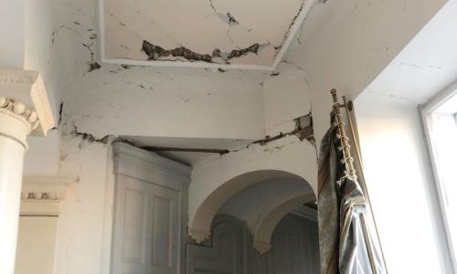 Oštećenja nakon potresa u Državnoj rezidenciji Visoka 22