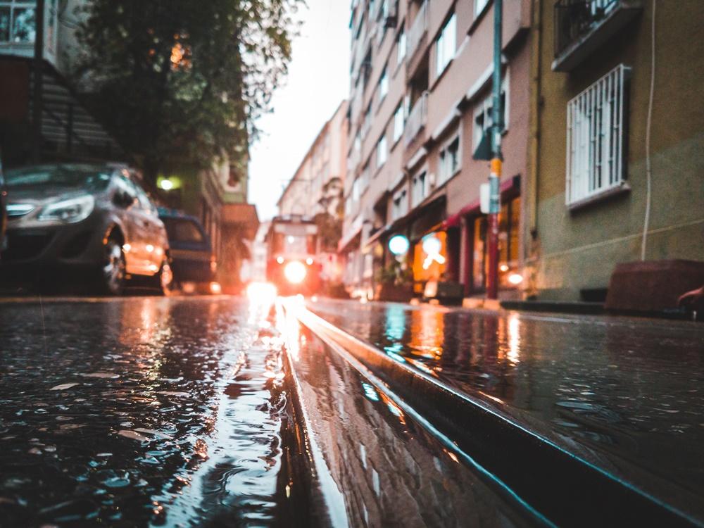 poplava, grad, ulica
