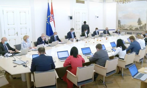 Sjednica Vlade RH - ministri za okruglim stolom